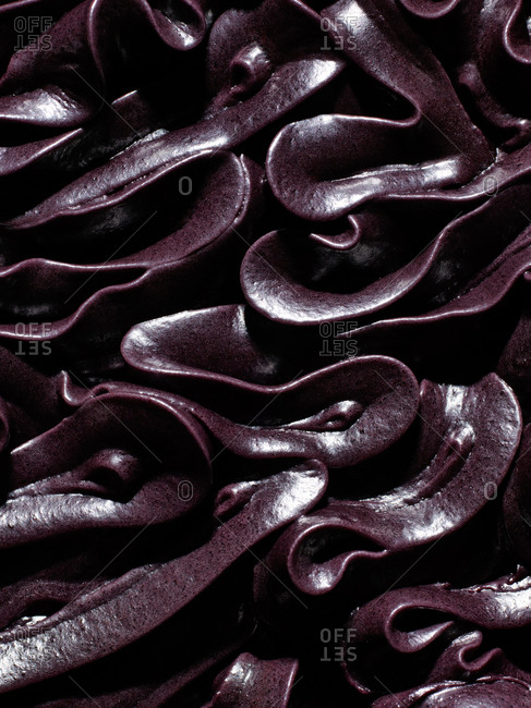 Swirls of chocolate frosting