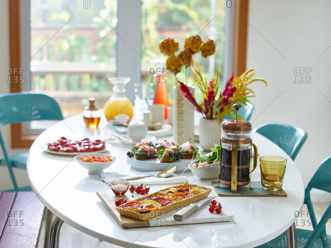 Table set for brunch