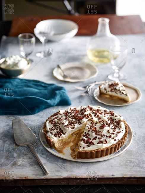 Banoffee pie sliced