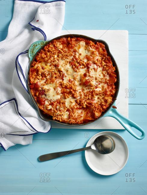 Crispy skillet lasagna