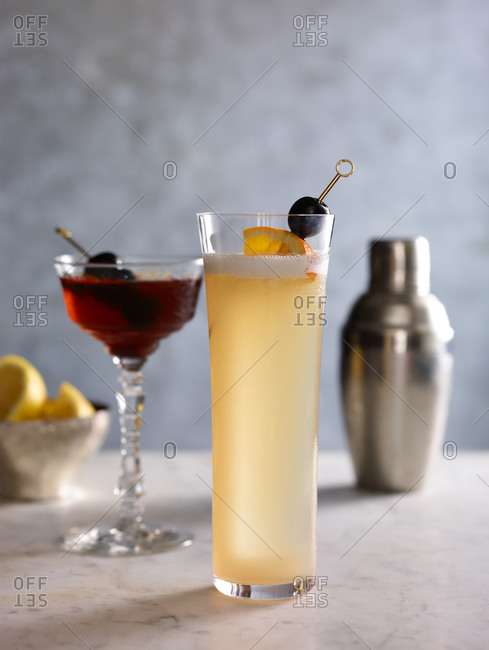 Two cocktails and a mixer