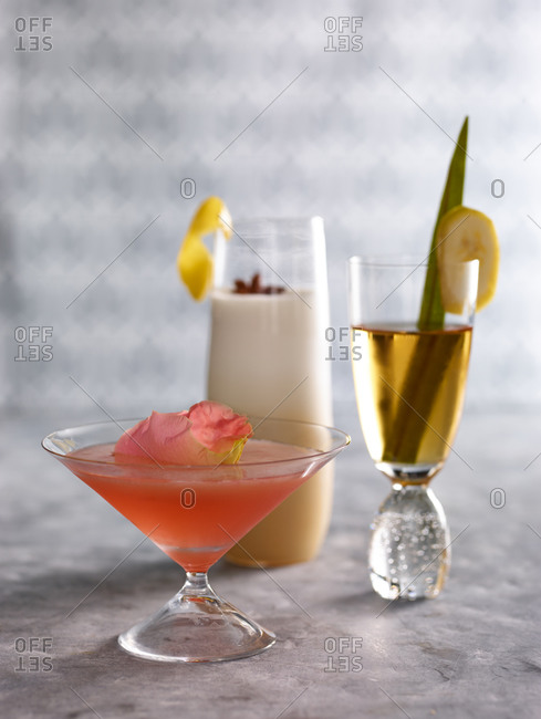 Three whiskey cocktails