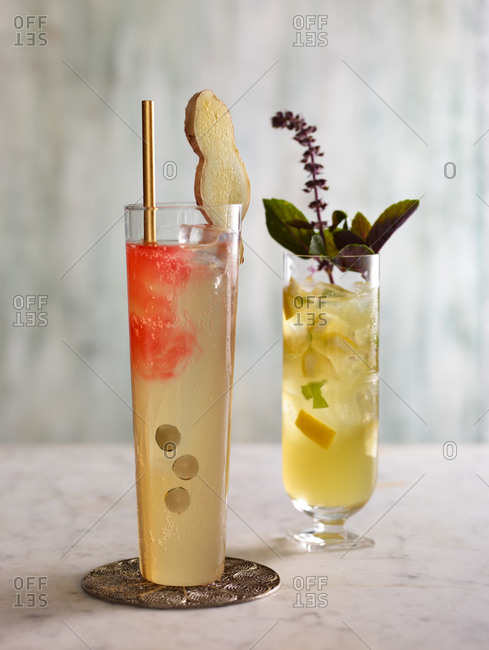 Tall fruity cocktails