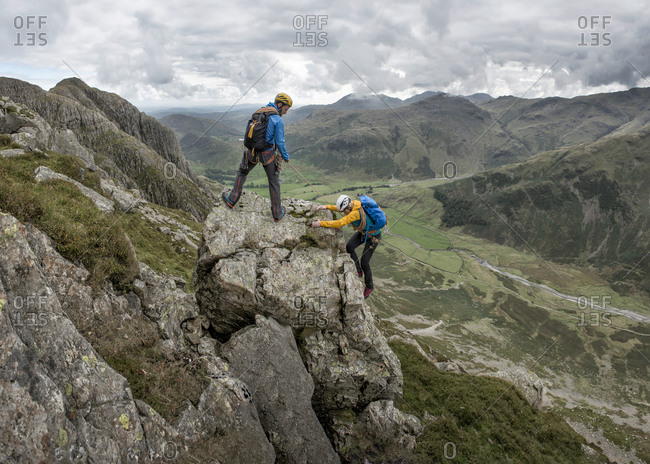 Scrambling at Pike of Stickle, Great Langdale