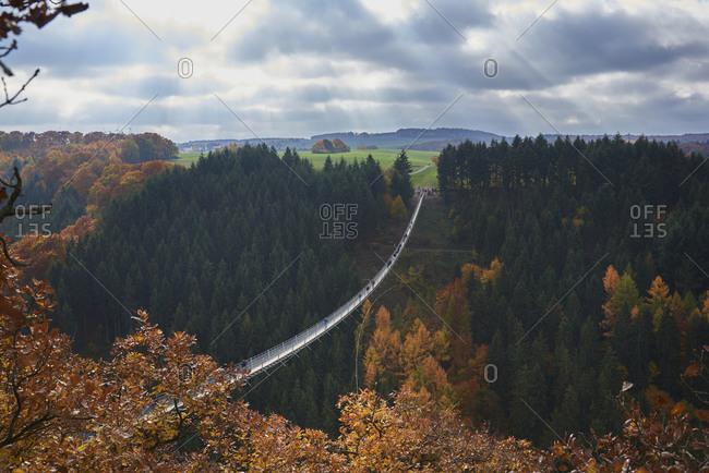 Swing Bridge Geierlay, Saar-Hunsrueck-Steig, Hunsrueck