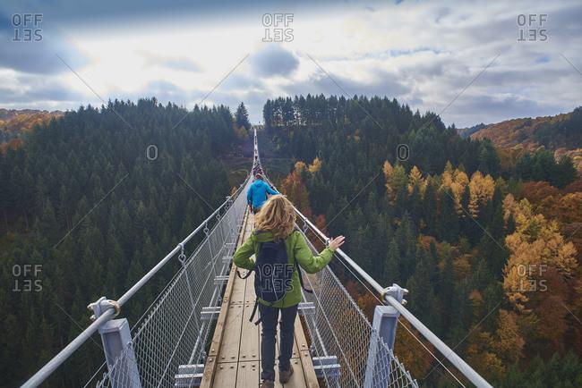Swing Bridge Geierlay, Saar-Hunsrueck-Steig, Hunsruec
