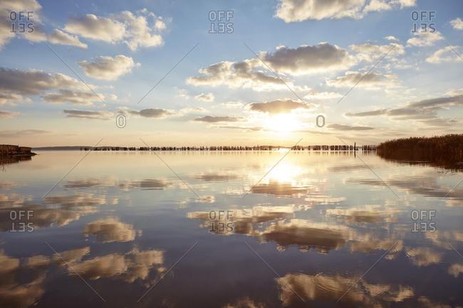 Spyckerscher See at sunset, Ruegen Island