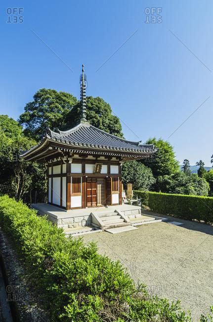 Arashiyama bamboo forest with temple and graveyard, Kyoto
