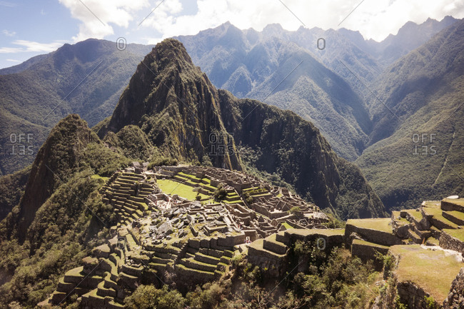 Machu Picchu in the Andes Mountains of Peru