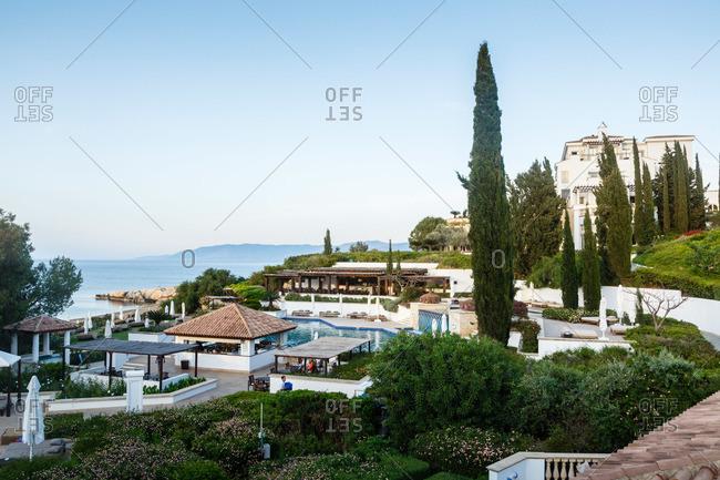 Paphos, Cyprus - May 8, 2015: Coastal resort in Cyprus