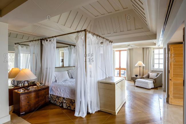 Paphos, Cyprus - May 9, 2015: Vaulted room in resort in Cyprus