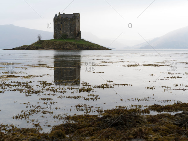 Castle Stalker on Loch Laich in Argyll, Scotland