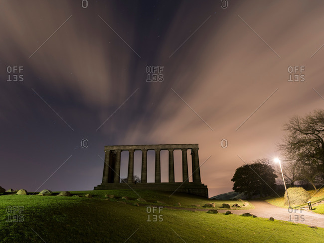 The National Monument on top of Calton Hill in Edinburgh, Scotland