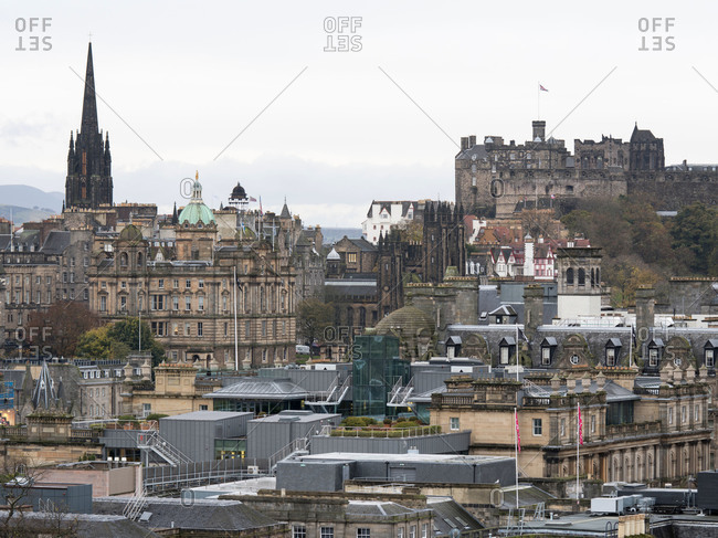 Mixture of contemporary and historic architecture in Edinburgh, Scotland