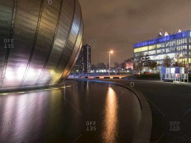 Glasgow, Scotland - November 18, 2015: Architecture of the Glasgow Science Centre