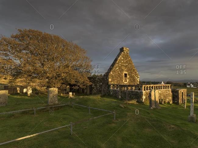 Ruins of an old church in Dunvegan on the Isle of Skye, Scotland