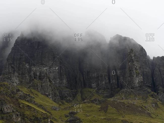 Mist over The Old Man of Storr on the Isle of Skye, Scotland