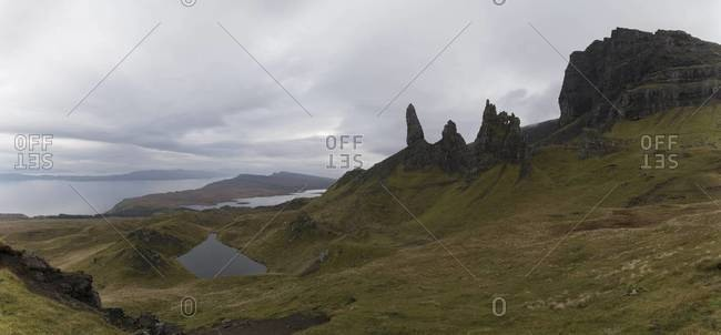 View of The Old Man of Storr on the Isle of Skye, Scotland