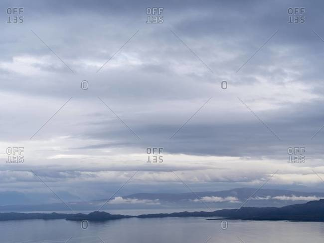 Sound of Raasay seen from the Storr on the Isle of Skye, Scotland