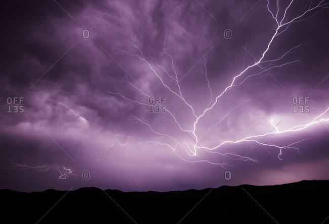 Lightning Strikes on a windy Texas night