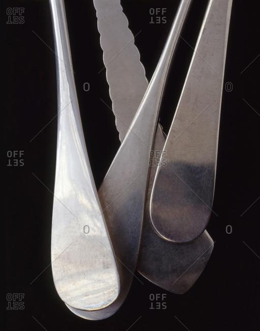 Silver spoon handles
