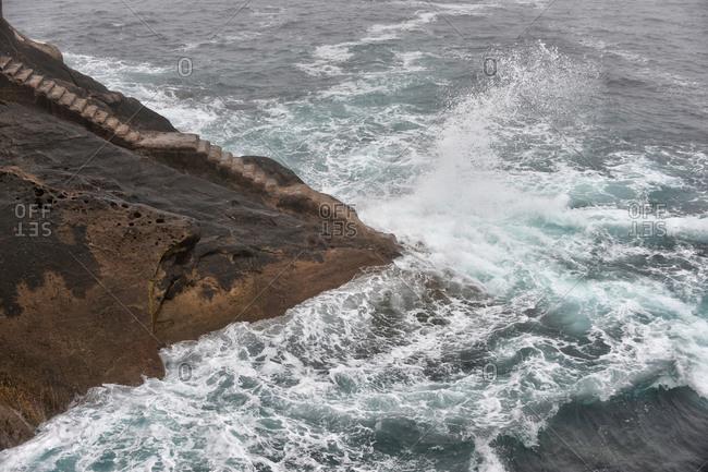 Steps to sea in Spain