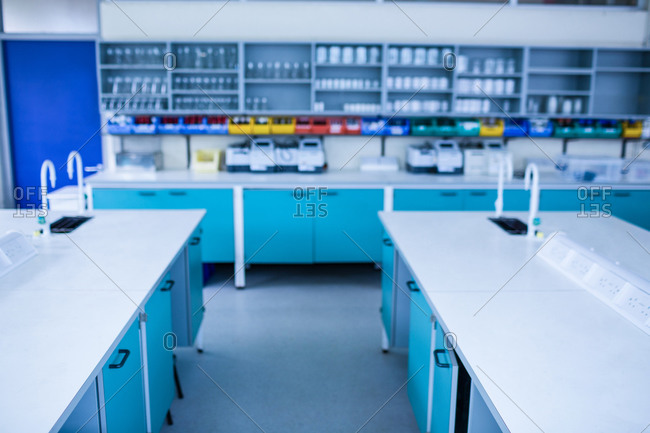 Empty laboratory at the university