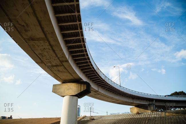 Highway overpass in Osaka, Japan