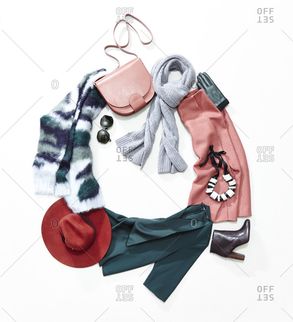 Woman's fashionable winter outfit