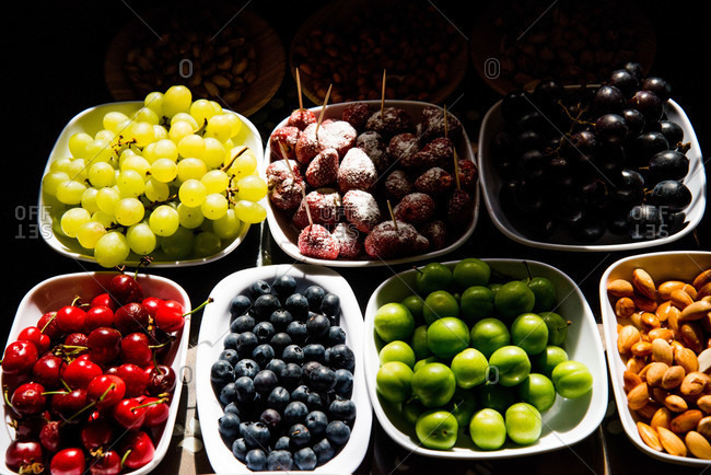 Various fruits in a Turkish market