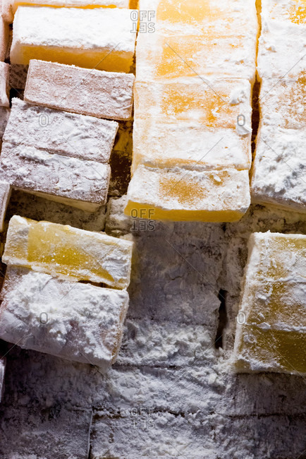 Cubes of Turkish delight