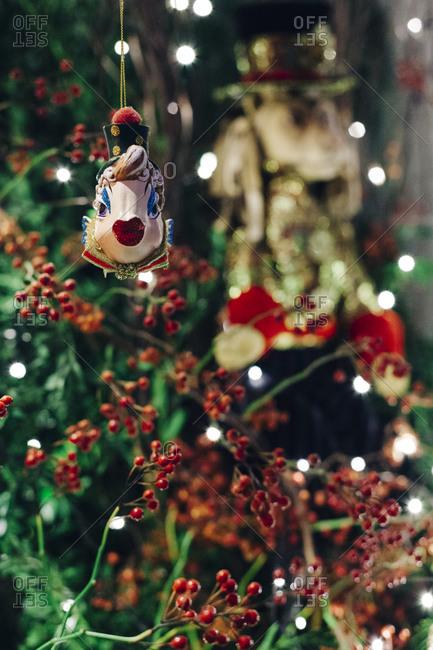 Fish ornament on Christmas tree