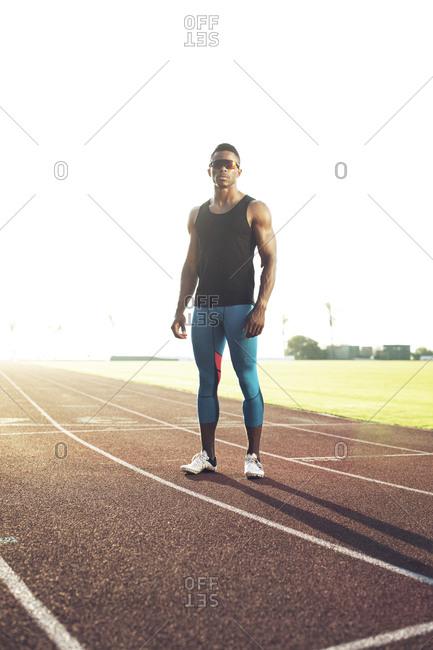 Full length portrait of a runner