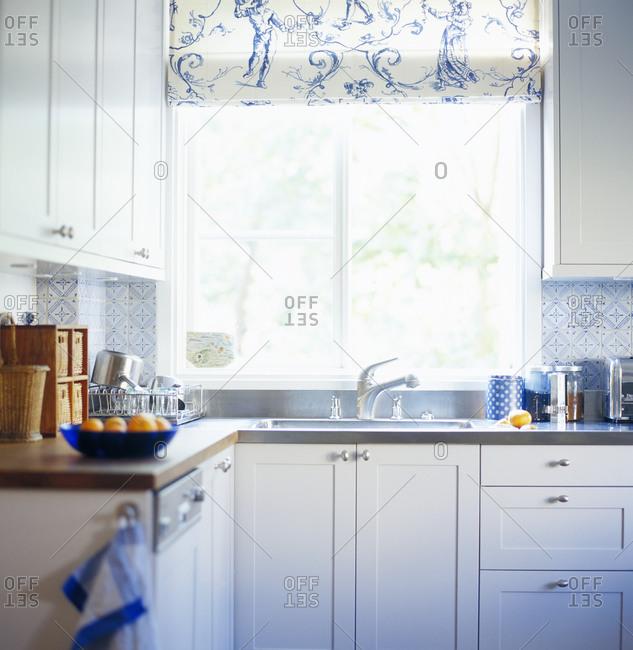 Interior view of domestic kitchen