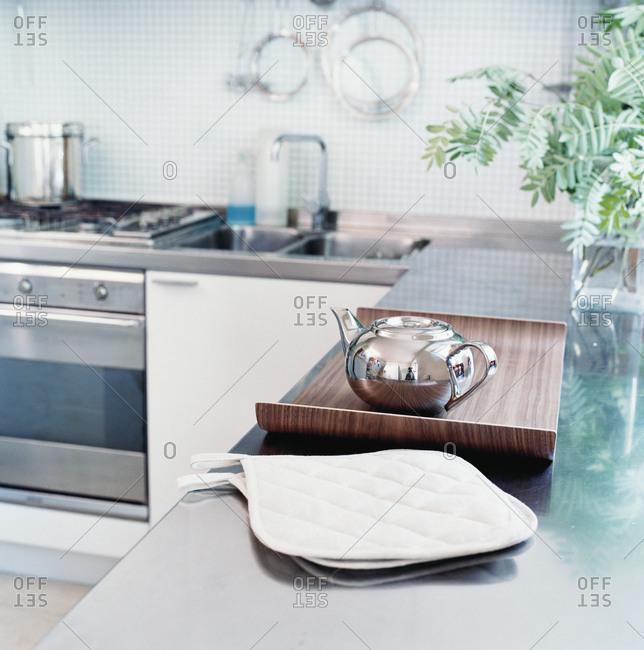 Interior view of a domestic kitchen