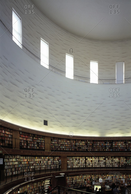 Stockholm, Sweden - April 6, 2006: A Library in Stockholm, Interior