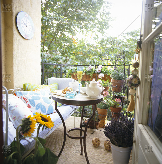 Small summer patio