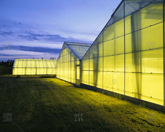 Exterior view of Greenhouses - Offset
