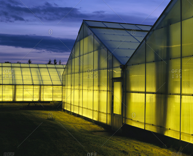 Exterior view of Greenhouses