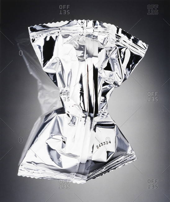 A Crumpled Silver Wrapping