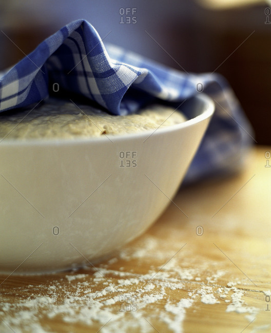 Allowing the dough to rise