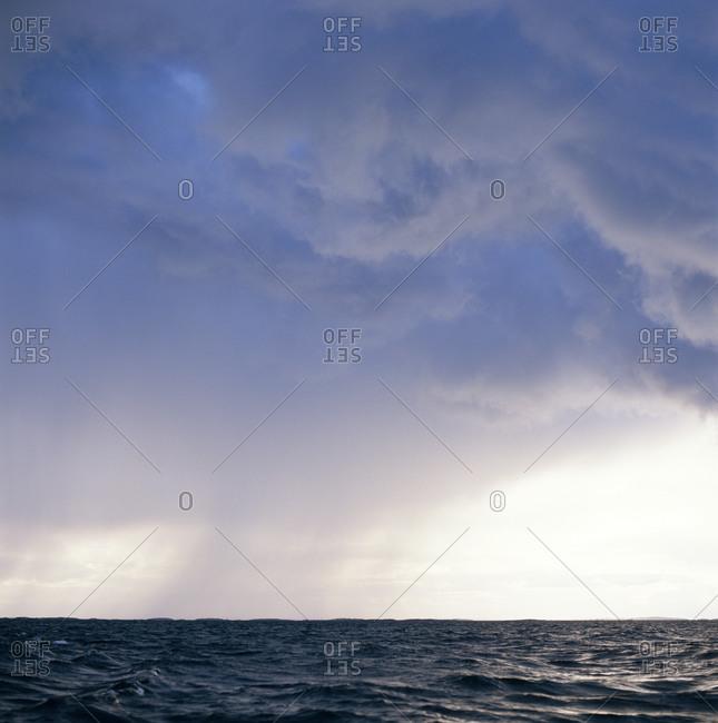 Rain over the ocean
