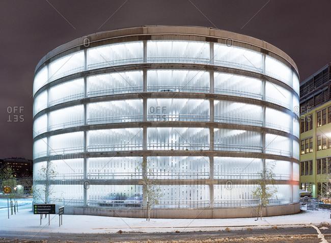 A multistory car park, Sweden