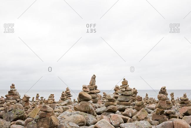 A pebble beach, Sweden