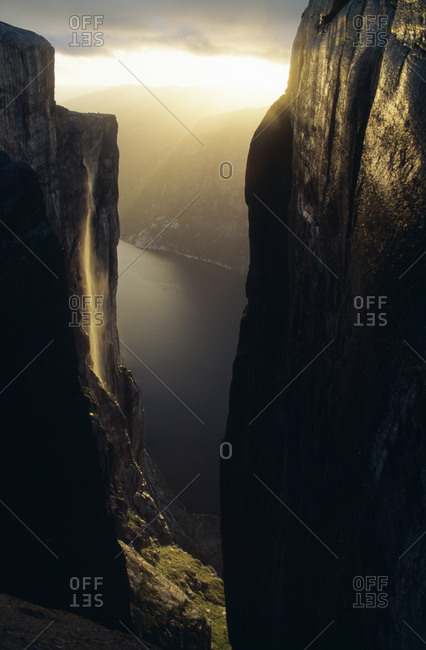 Cliffs beside water - Offset Collection