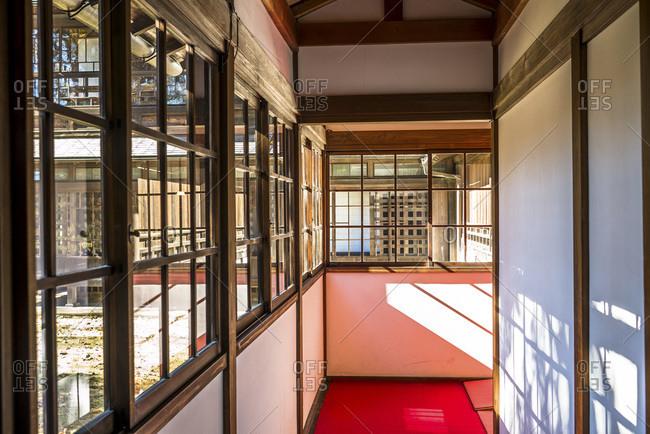 Tokyo, Japan - December 2, 2014: Interior of a building in Tokyo