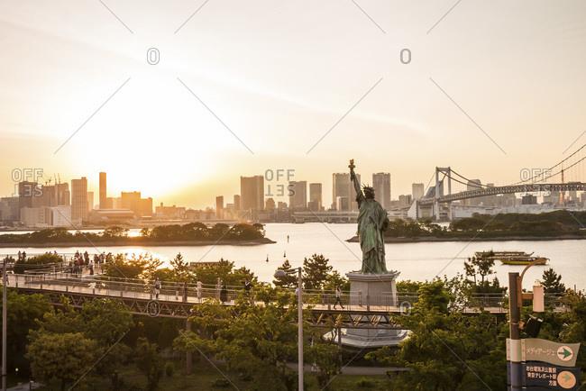 View of Tokyo Bay in Tokyo