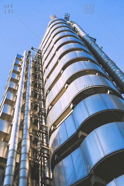 London, England, UK - October 6, 2013: Modern architecture near Liverpool street in London, Great Britain