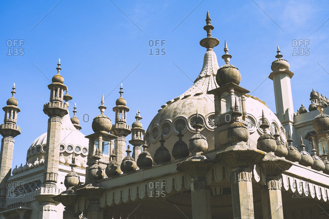Decorative roof of the Royal Pavilion in Brighton, England