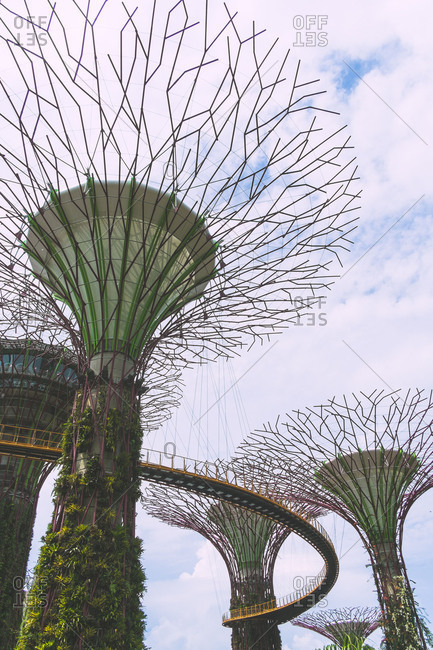 Singapore - August 14, 2014: Supertree Grove at Gardens by the Bay in Singapore